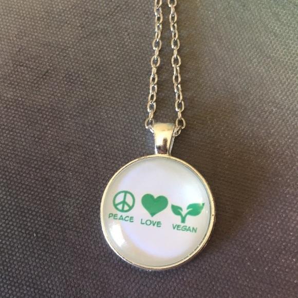 Jewelry Final Sale Vegan Peace Love Necklace Poshmark